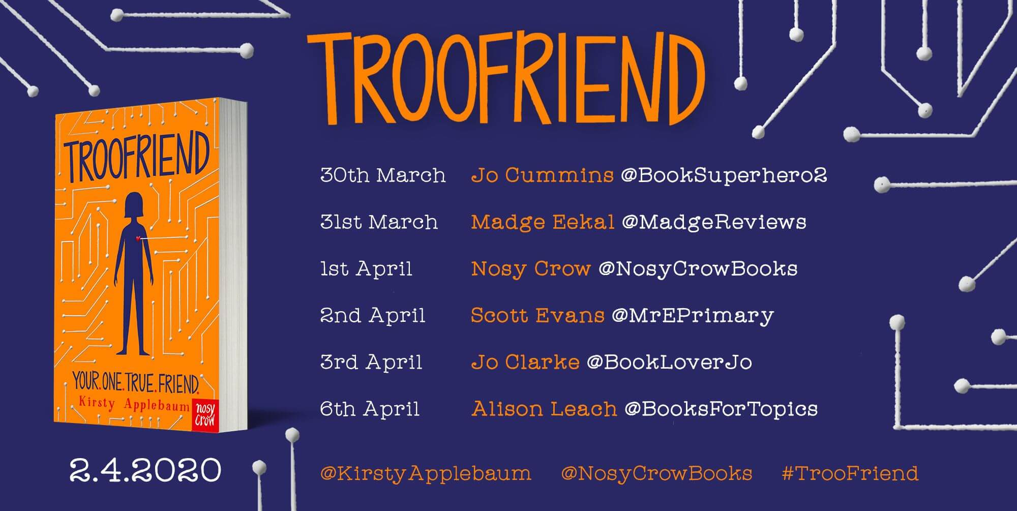 TrooFriend blog tour banner